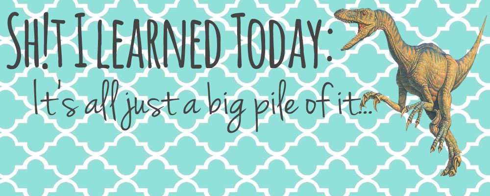 Sh!t I Learned Today – It's all just a big pile of it